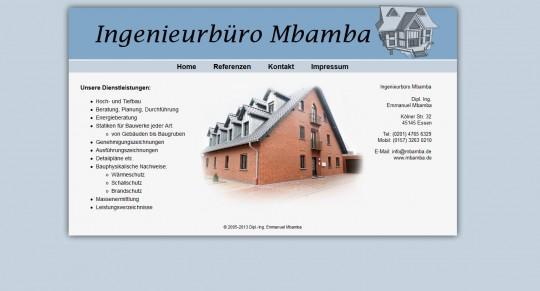 Webseite: Ingenieurbüro Mbamba