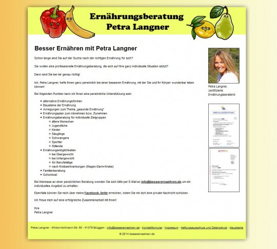 Webseite: besserernaehren.de