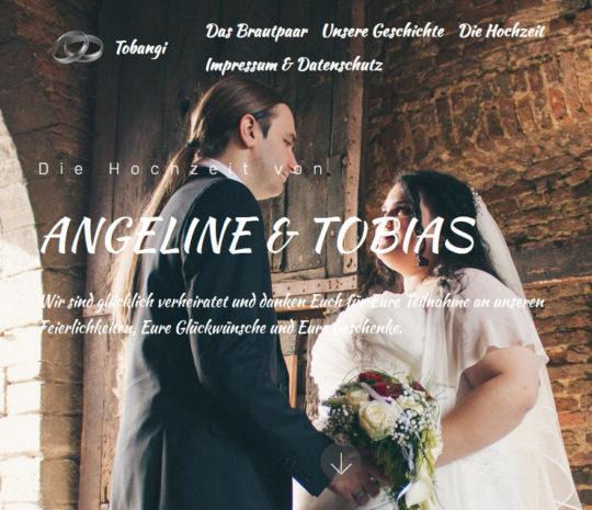 Webseite: Eigene Hochzeit