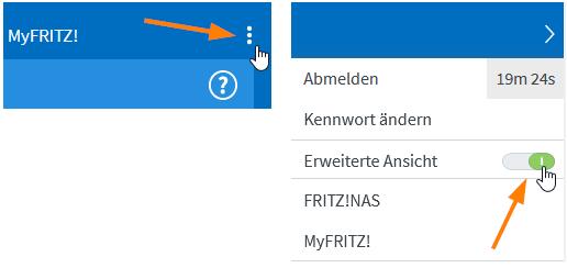Erweiterte Ansicht in der FritzBox-Benutzeroberfläche aktivieren