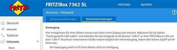 Gastzugang über LAN4 in der Benutzeroberfläche konfigurieren