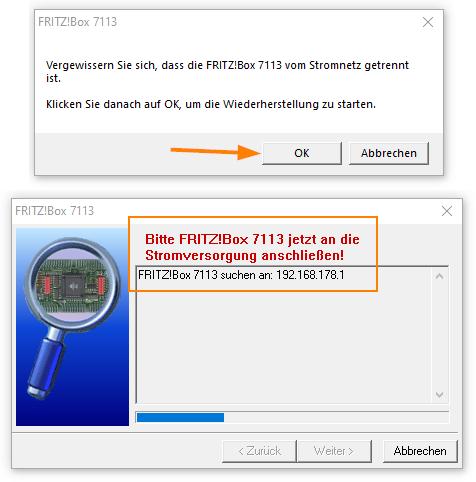 FritzBox wieder einschalten