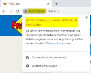 Browser bemängelt fehlendes Zertifikat beim Seitenaufruf