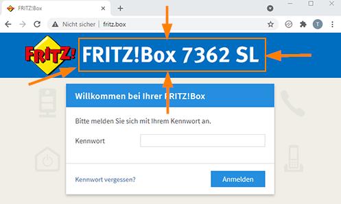 Versionsnummer der FritzBox