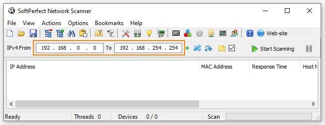 Suche nach belegten IP-Adressen